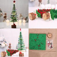 Wholesale fabric kit resale online - Hot Diy Fabric Christmas Tree Material Kits Xmas Tree Christmas Party Home Decorations Desktop Ornaments