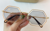 Wholesale types sunglasses resale online - New fashion popular sunglasses irregular frame with special design lens legs wearing woman favorite type top quality s