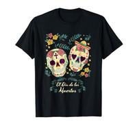 siyah şeker toptan satış-Ölü El Dia de Los Muertos Şeker Kafatası Gün Sevimli Siyah T-shirt S-3XL renk jersey Baskı t shirt Kısa Kollu Artı Boyutu t-shirt