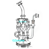 Wholesale type nails resale online - Klein Recycler Tornado Percolator Glass Bong Wax Pipe Bongs Water Pipes Oil Dab Rigs With Heady Quartz Banger Or Herb Bowl dabber nail