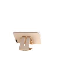 metallstandplatz für iphone ipad großhandel-Universal Handy Tablet Schreibtischhalter Luxus Aluminium Metallständer für iPhone iPad Mini Samsung Smartphone Tablets Laptop