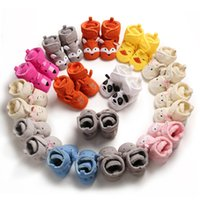 Wholesale baby boy christmas slippers for sale - Group buy New styles cartoon baby first walker shoes toddler Baby Girls Boys Anti slip Socks Warm cotton Slipper Shoes baby boots