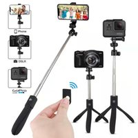 Wholesale phone holder for selfie stick for sale – best K05 Portable Bluetooth Selfie Stick Mini Selfie tripod with Wireless Remote Control Rotation Selfie cell phone holder For GoPro DV Came
