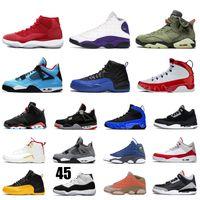 ingrosso pallacanestro 4s-NiKE Air Jordan Retro dei pattini di pallacanestro FIBA 12s Gioco Reale Travis Scott 6s Bred 4s 13s 9s Concord 11s Tinker formatori nero Cemento scarpe da tennis