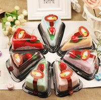 Wholesale cake gifts for wedding for sale - Lovely cake shape towel creative towels Christmas birthday gifts baby shower valentine s day wedding gift for guest party favors