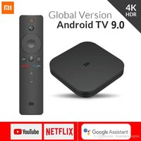 Wholesale android tvs resale online - Xiaomi Mi TV Box S Android K HD QuadCore Smart Bluetooth GB GB HDMI WiFi Set UP Boxs Media Player