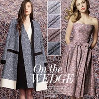 telas de hilo teñido al por mayor-140 cm francés tela Jacquard Hilado-teñido Blazer vestido tela Jacquard patchwork tela al por mayor