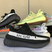 Wholesale shoes snow woman us11 for sale - 2019 Kanye West V2 Butter Semi Frozen Yellow Cream White Men Shoes Zebra Bred Black Red Beluga Running sheos With Box