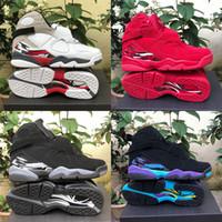 retros 13 toptan satış-2019 Erkekler Basketbol Ayakkabıları 8 s Sevgililer Günü Aqua Geri Sayım Paketi 8 Erkek retro retros Eğitmenler Tasarımcı Spor Sneakers Boyutu 7-13