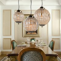 Wholesale 15 ball chain resale online - Retro Vintage Royal Empire Ball Style Big Led Crystal Modern Chandelier Lamp Lustres Lights E27 For Living Room bedroom bathroom