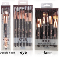 Wholesale makes eyeshadow palette resale online - kylie Jenner Complexion Brush Set Nake Eyeshadow Palettes Foudation Makeup Brushes High Tech Make Up Tools