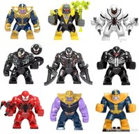 Wholesale goblin toys resale online - Big Decool Thanos Large Anti Venom Riot Carnage Green Lantern Hulk Buster Goblin Thing Toy For Children