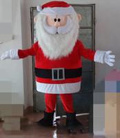 ingrosso costumi natali del padre-2019 Fabbrica vendita diretta mini fan all'interno della testa Babbo Natale costume mascotte per adulti costume di Babbo Natale cartone animato
