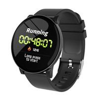 самые тонкие часы оптовых-W8 умные часы спортивный фитнес-трекер IP67 водонепроницаемый умные часы работает езда умный браслет погода мода ультратонкий 2.5D закаленное гла