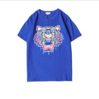 ingrosso rosa rosa caratteri rosa-Magliette da uomo Magliette di marca Tigre con lettere stampate Magliette da uomo stampate Magliette a maniche corte Tee Girocollo estivo