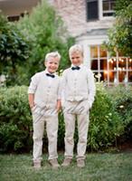 Cheap Boy Vest 2019 Boy's Wedding Wear Custom Made Five Button Wool Kids Wedding Waistcoat Two Piece(Vest+Pants)