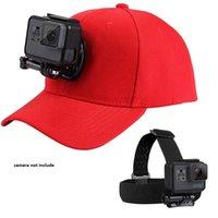 câmera de beisebol venda por atacado-Strap Cabeça Acessórios Kit Camera e Baseball Hat Cap W / J-gancho Buckle Monte Screw Set para GoPro HERO5 Sessão HERO4
