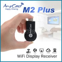 tv için android sopa toptan satış-HD 1080P Anycast M2 Artı Airplay Kablosuz Ekran TV Dongle Alıcı DLNA Kolay Paylaşım Miracast Android IOS için üç Modları Mini TV stick
