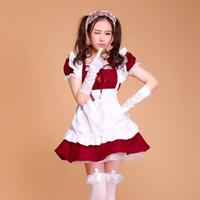 ingrosso più i costumi cosplay di halloween di formato-costumi di halloween per le donne cameriera plus size Sexy costume cameriera francese dolce gotico Lolita Dress Anime Cosplay Sissy Uniform