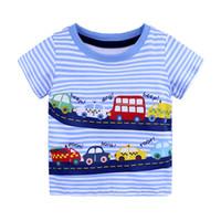 patrón de camisa infantil al por mayor-Ropa de diseñador para niños Infant Baby Ocio T-Shirt Cuello redondo Manga corta Dibujos animados Resumen Estampado bordado Patrón 61