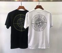 camisetas de moda de desgaste al por mayor-2019 Verano Ocio Hombre Cuello redondo Camisetas de manga corta para hombres T-shirt moda Edición coreana Estilo masculino Tendencia de los hombres camisetas