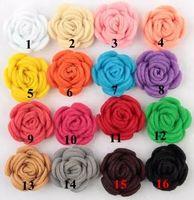 handgemachtes fühlendes haar großhandel-Freies Verschiffen neue Art 16 Farben Handgemachte Filz stieg Blume Diy für Haarschmuckstirnbandverzierungen