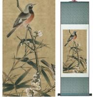 chinesische vogelmalereien großhandel-Vogel auf dem Baum Vögel, die chinesische traditionelle Kunst malen Home Decoration Paintings No.32202