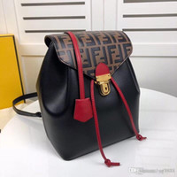 Wholesale canvas mountain bag for sale - Group buy Men and women general shoulder bag multi functional large backpack leather production mountain leisure bag F0822