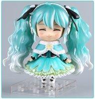 figuras de brinquedo miku venda por atacado-Anime Hatsune Miku Action Figure Neve Miku # 047 Ver bonito. Toy 10 centímetros T190925