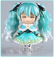 hatsune miku anime figürleri toptan satış-Anime Hatsune Miku Eylem Şekil Kar Miku # 047 Sevimli Ver. Oyuncak 10cm T190925