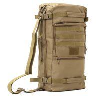 рюкзак холст военные путешествия походы оптовых-50L многофункциональный холст Спорт на открытом воздухе военный тактический рюкзак путешествия отдых туризм рюкзак восхождение сумка # 108655