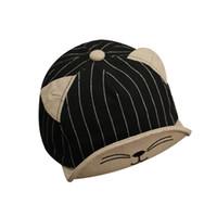 ingrosso cappelli di bambù di snapback-Cappuccio del bambino di baseball del ragazzo di autunno della molla del cappello del bambino di nuovo modo 2019