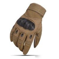 guantes de nylon para moto al por mayor-Guantes Ejército Pantalla táctil Guantes de motocicleta Dedo completo Deporte al aire libre Moto Motocross Guante protector transpirable