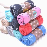 Wholesale dog blanket blue resale online - HOT SALE Lovely Pets Mat Soft Warm Fleece Print Design Pet Puppy Dog Cat Mat Blanket Bed Sofa Pet Warm Product Cushion Cov