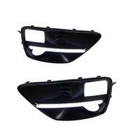 kit de inundação venda por atacado-Estilo do carro kit drl Para Subaru WRX 2015 2016 Daytime Running Luz Turn Signal Relay Daylight Com Furo de Luz de Nevoeiro