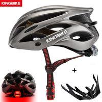 Wholesale pc eps helmet resale online - KINGBIKE HOT Bicycle Helmet Men Women MTB Road Cycling Helmets Ultralight Integrally molded EPS PC Bike helmet Capacete Ciclismo