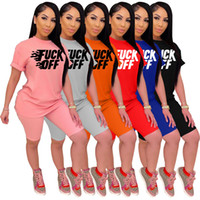 Brand Women Summer Letter Tracksuit T Shirt+ Shorts Two Piece Set Short Sleeve Outfits Casual Sweat Suits Jogger Suit 772