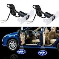 bmw e36 ışıklar toptan satış-2 adet LED Araç Kapı Lazer Işığı Lazer Projektör Logo Lights Welcome Tüm BMW 3 5 6 Serisi E36 M3 X5 için