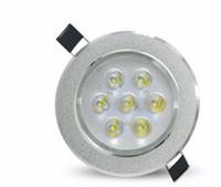 focos de led para cocina de techo al por mayor-Luces de techo LED Lámpara empotrada redonda 85V-265V Bombilla LED Vestíbulo de la cocina Dormitorio Interior Foco LED Techo LLFA