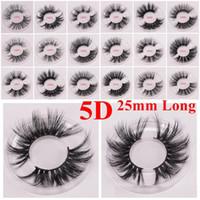 pestanas de shilina venda por atacado-25 milímetros mink 5d cílios longos e grossos Mink Lashes 25mm 3d cílios mink 15 estilos olho maquiagem maquillage
