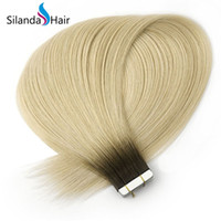 ingrosso capelli-Silanda Hair Rooted #R 19/613 Nastro dritto in 100% Real Remy Human Hair Extensions 20 Pz / pacco Spedizione gratuita
