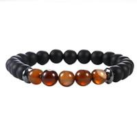 Wholesale balance charms for sale - Group buy Minimalist Chakra Balance Yoga Beads Bracelet For Men mm Tiger Eye Natural Stone Agate Hematite Charms Lava Bracelets Stretch Jewelry
