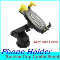 Wholesale suction phone stand for sale – best Retractable Car Mount Holder Easy One Touch Universal Holders Suction Cup Cradle Stand For iPhone XS MAX Samsung Huawei Phones