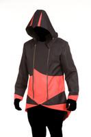suikastçiler inanç erkek ceketi toptan satış-Assassin Creed Erkek Cospaly Kostüm Tasarımcısı Oyun Uzun Kollu Kapşonlu Ceket Erkek Cadılar Bayramı Teması Kostüm