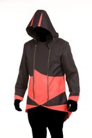 ingrosso guerriero degli uomini di assassini-Designer Creed Mens Cospaly costume di Assassin gioco maniche lunghe con cappuccio costume a tema Mens di Halloween