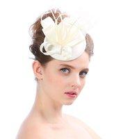 zarif partiler için saç aksesuarları toptan satış-Düğün Headdress deocr için 2019 Yeni Şık Bayanlar Düğün Saç Aksesuarları Gelin Fascinator Kokteyl Parti Şapka