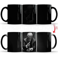 taza de café mágico cambia de color al por mayor-Donald Trump cerámica taza de café cambiante del color mágico sensible al calor del té de la leche de la taza creativa del té del café tazas RRA2048