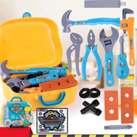 Wholesale children construction toys resale online - Kids Construction Tool Set Toy Children Pretend Play Repair Work Hand Tools Gift
