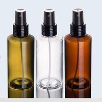 pulverizador de plástico marrón al por mayor-300pcs 100ML VERDE / transprent / BROWN plástico de botellas de PET con agua del inodoro / perfume / pulverizador empaque de la bomba Brumizador / / tóner