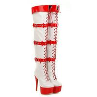 Wholesale large size thigh boots resale online - Large Size Sexy Thigh High Heels High Sexy Over The Knee Boots Stiletto Platform Boots Winter Shoes Woman Pumps
